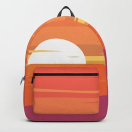 Sun Set at the Beach Backpack