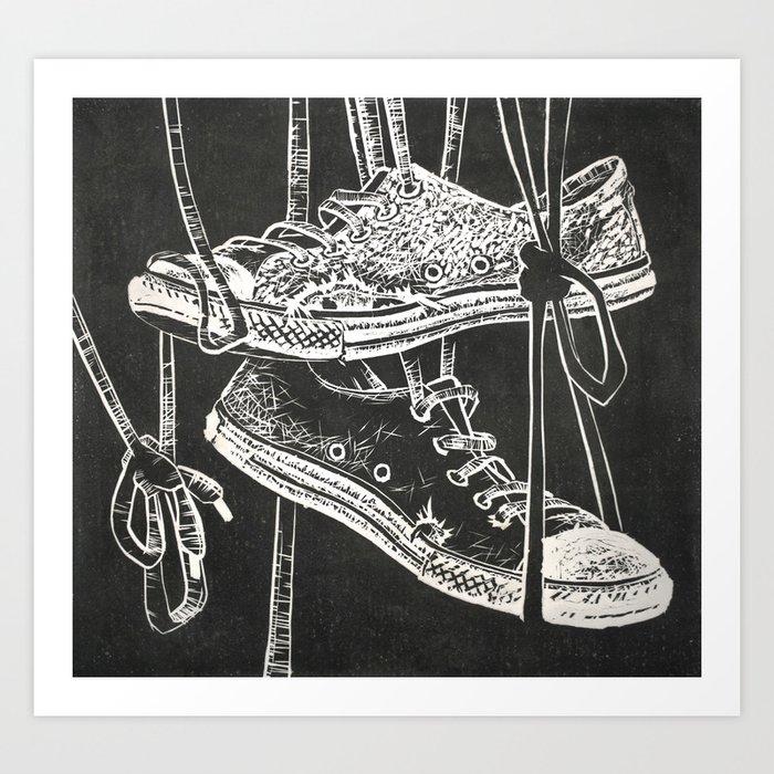 d803abb5185c9 Converse Art Print by johnsawvelart