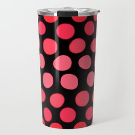 Juicy Red Apple Ombre Dots Travel Mug