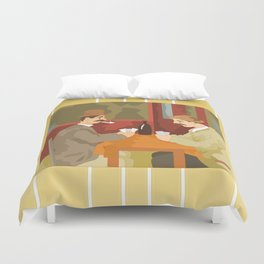 Card players by Cezanne Duvet Cover