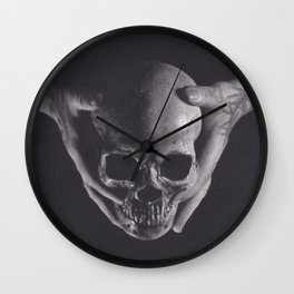 Death in His Hands Wall Clock