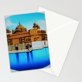 Classical Masterpiece 1825 Sri Harimandir Sahib - Golden Temple, Amritsar, India - Artist Unknown Stationery Cards