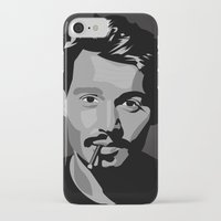johnny depp iPhone & iPod Cases featuring Johnny Depp by Tori Kim