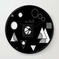 math Wall Clocks featuring math by BruxaMagica