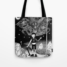 Witchy Skateboarder Tote Bag
