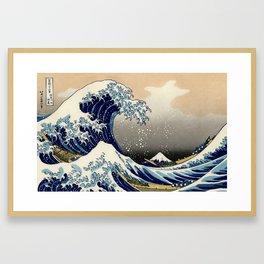 The Great Wave off Kanagawa Hokusai Framed Art Print