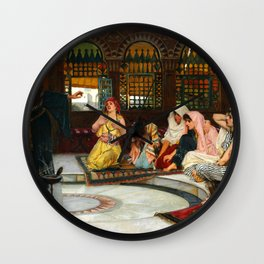 "John William Waterhouse ""Consulting the Oracle"" Wall Clock"