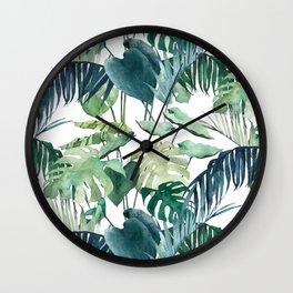 Botanical Palm Wall Clock