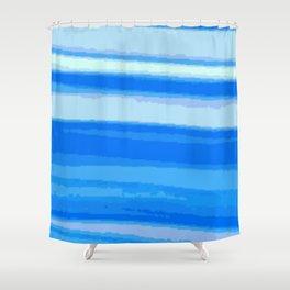 Blue Blur Shower Curtain