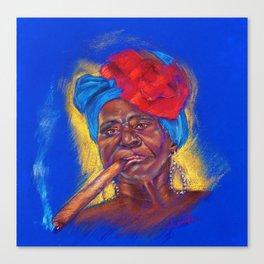 Cigar Woman Canvas Print