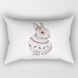sweater rabbit Rectangular Pillow