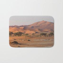Desert textures - Sossusvlei desert, Namibia Bath Mat