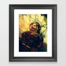Vintage Christmas Astronaut Framed Art Print