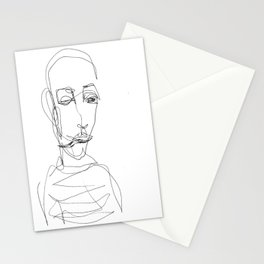 He didn`t really care... Stationery Cards