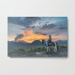 Sunset at Mount Bromo, East Java, Indonesia Metal Print