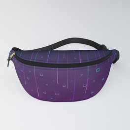 Pixelrain Video Games Inspired Pattern Fanny Pack