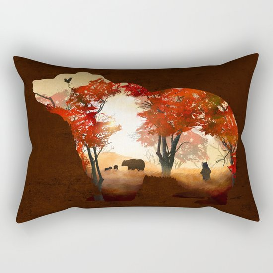 Bears in the Woods Rectangular Pillow