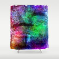 no face Shower Curtains featuring face by  Agostino Lo Coco