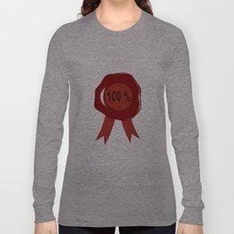 Wax Stamp 100 Percent Long Sleeve T-shirt