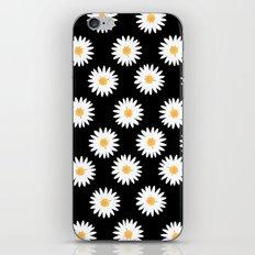 Daisy black pattern iPhone & iPod Skin