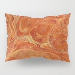 Burnt Orange Fire Lava Flow Pillow Sham
