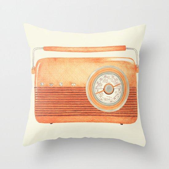 Radio Silence Throw Pillow