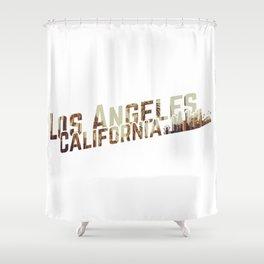 Los Angeles Skyline Shower Curtain