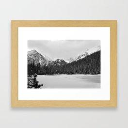 Bear Lake I- B&W Framed Art Print