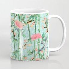 Bamboo, Birds and Blossom - soft blue green Mug