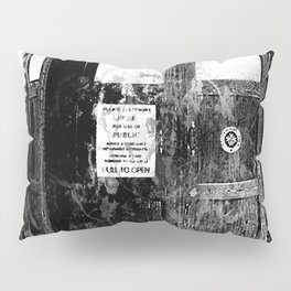 TARDIS (BLACK & WHITE VERSION) Pillow Sham