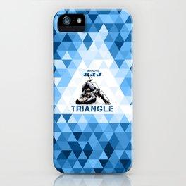 Blue Bjj Triangle choke. Jiu-jitsu grappling iPhone Case