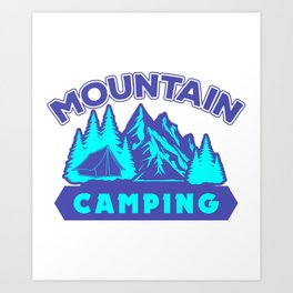 Mountain Camping pb Art Print