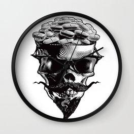 Skull and Prescription Pills Wall Clock