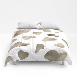 Golden cow hide print Comforters