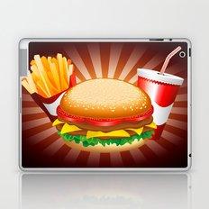Fast Food Hamburger Fries and Drink Laptop & iPad Skin