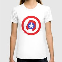 avenger T-shirts featuring Captain Avenger by foreverwars
