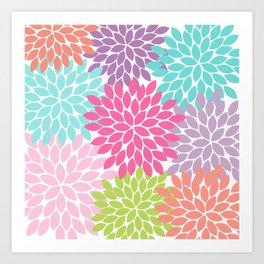 Colorful Floral Flower Petals Art Print