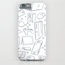 Computer Gaming Video Game Pattern iPhone Case