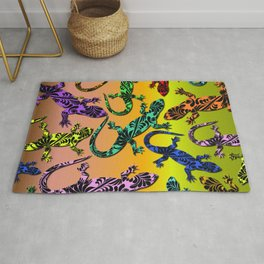 Gecko Deco Pattern Rug