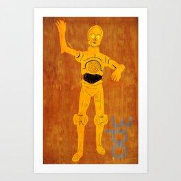 3PO Art Print