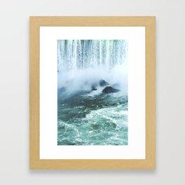 From below where all the water falls, Niagara 03 Framed Art Print