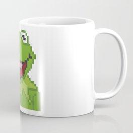 Kermit The Muppets Pixel Character Coffee Mug