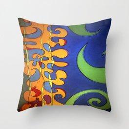 OCEAN Wave SHOWER CURTAIN #A Throw Pillow