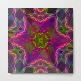 Crimson -purple kaleidoscope Metal Print