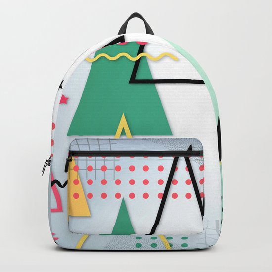 Abstract Christmas Backpack