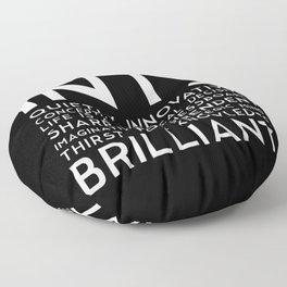 INTJ (black version) Floor Pillow