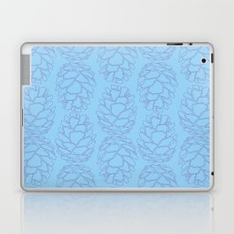 Rustic Pine Cone Illustrated Print in Blue and Purple Laptop & iPad Skin