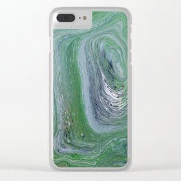 Tree Rings - acrylic pour painting Clear iPhone Case