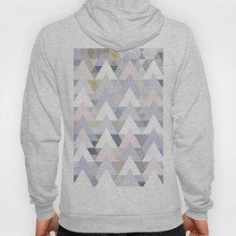 Pastel Graphic Winter Peaks on Geometry #abstractart Hoody