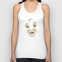 simba Tank Tops featuring Simba  by Luxatr